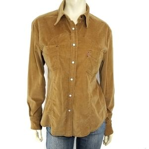 Levi's Western Pearl Snap Corduroy Shirt Top